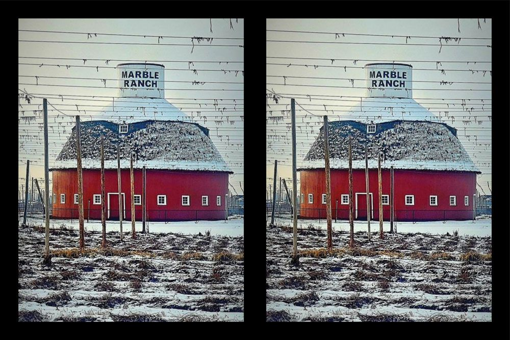 Marble Ranch Barn in Winter