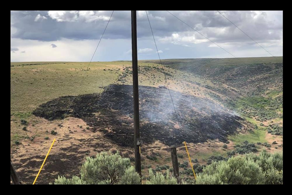3-acre fire off Case road started by lightning